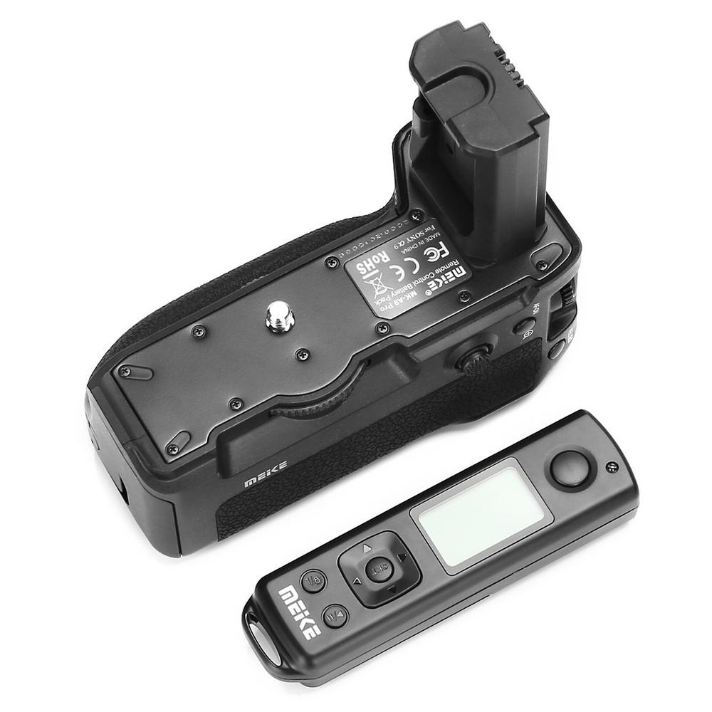MK-A9PRO Meike Aperto Da Bateria com Controle Remoto de 2.4 GHz para a Vertical-Função de disparo, para Sony A9 A7R III A7 III A7M3 Câmera
