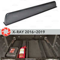 Organizador do tronco para o Lada X-Ray 2016 ~ 2019 ABS plástico caixa de armazenamento de acessórios de decoração interior do carro styling