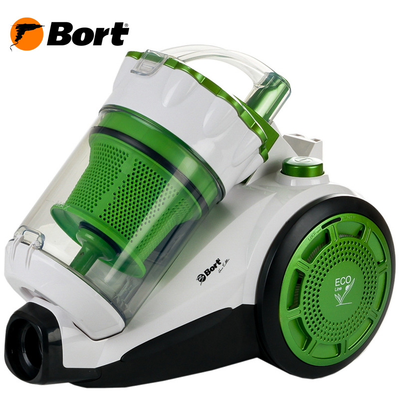 Vacuum Cleaner electric Bort BSS-1800N-ECO Multicyclone GREEN+WHITE пылесос с контейнером bort bss 1800n eco