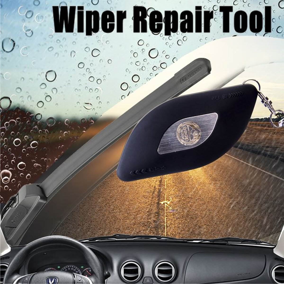 Black 1PC Car Auto Windscreen Windshield Wiper Repair Tool Blade Windscreen Wiper Restorer Universal