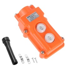 цена на UXCELL Hoist Crane Pendant Control Station Push Button Switch Up Down Orange Rainproof IP65 For Open-air Rain And Snow Electric