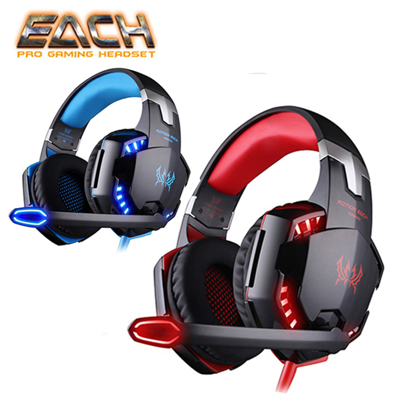 KOTION JEDER Kopfhörer Gaming Kopfhörer Mit Mikrofon Stereo Headset Gamer Kopfhörer Für Computer Ohrhörer Großen Gaming Headset
