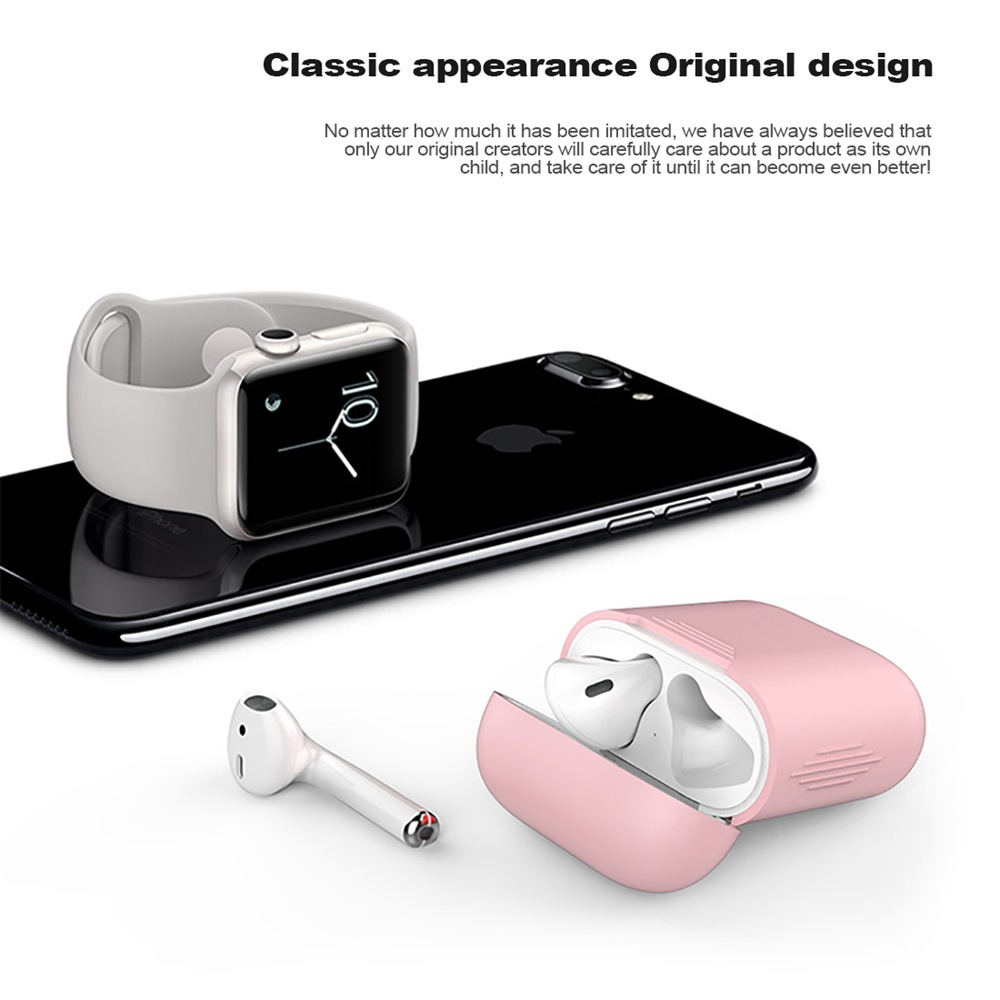 1PCS TPU Silicone Bluetooth Wireless Earphone Case For AirPods Protective Cover Skin Accessories for Apple Airpods Charging Box (5)