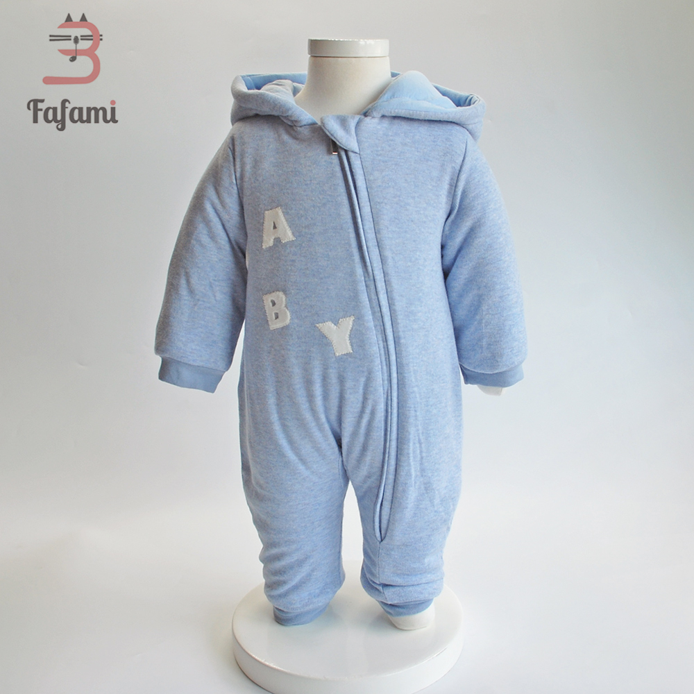 2018 Baby clothes Winter New born baby girl rompers boy clothes Organic cotton hooded outerwear Jacket Infant baby boy overalls