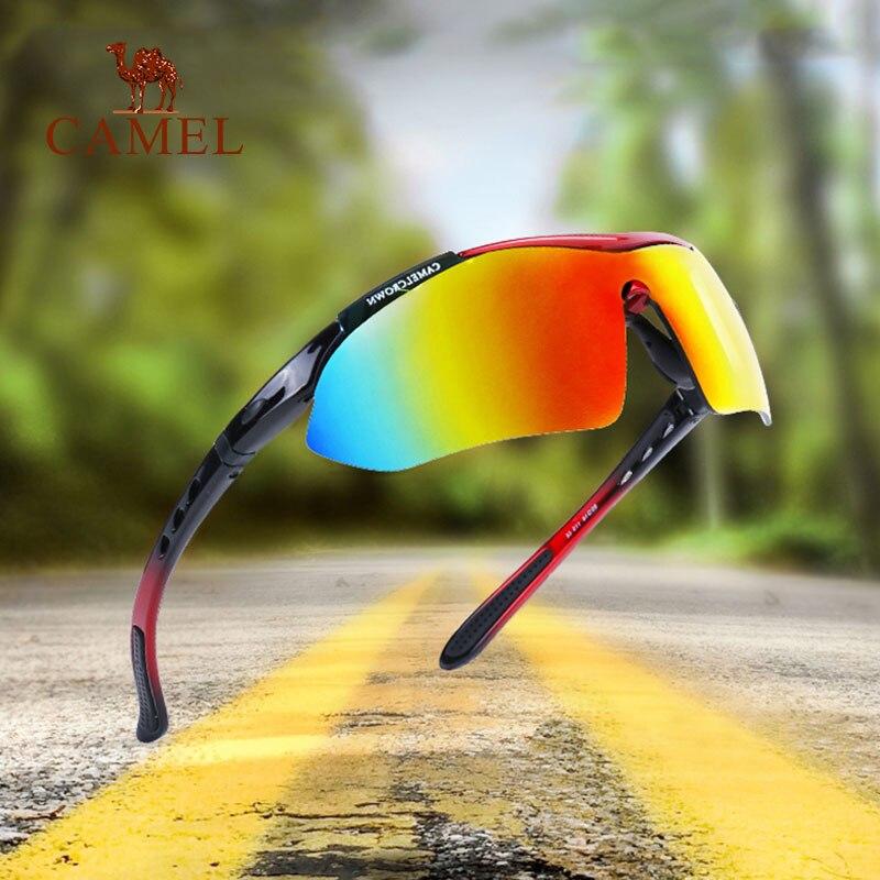 CAMEL Fishing Hiking Outdoor Sun Glasses Eyewear UV Riding Driving Men Women Multifunctional Night Sports