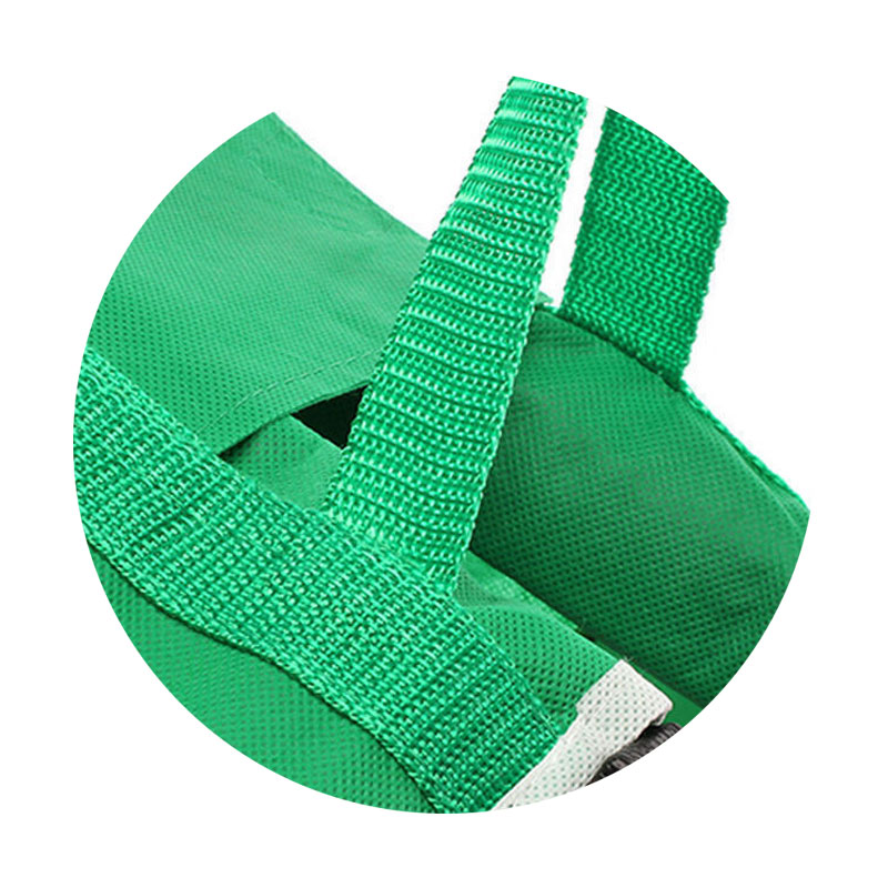 Bolsa grande para carro reutilizable, bolsas de la compra para alimentos, portátil, de tela verde, plegable