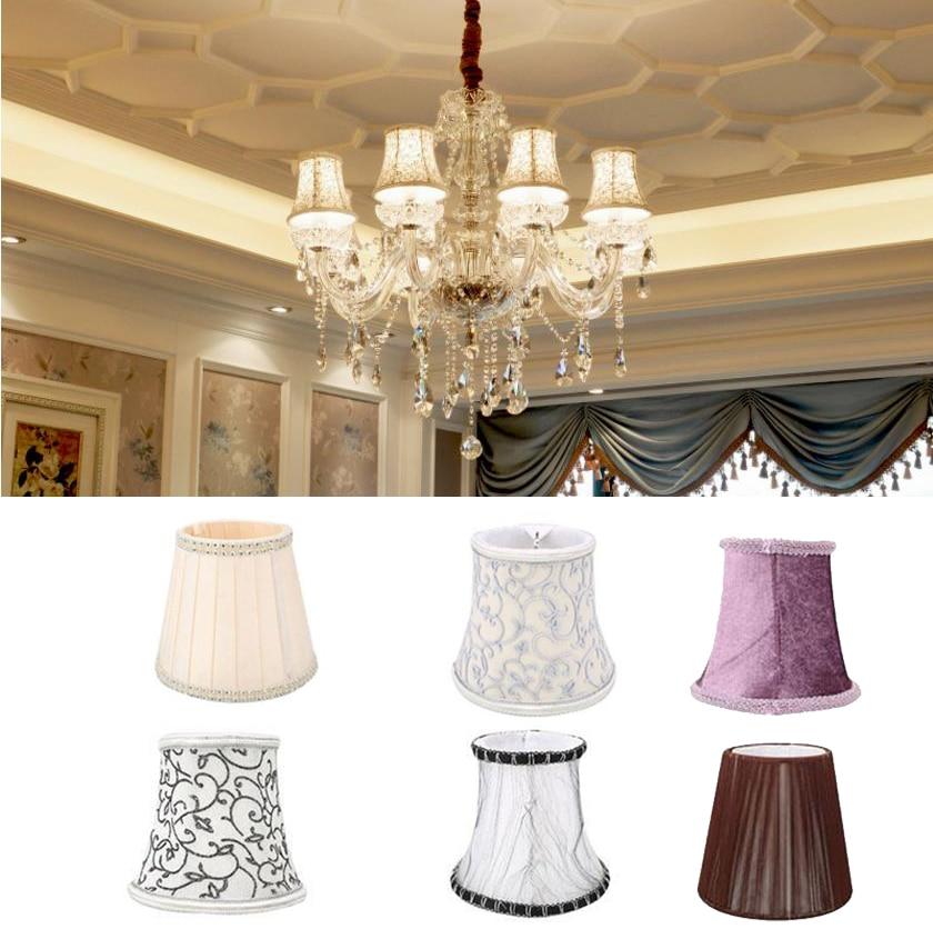 Art Deco Ripple lámpa árnyalatok Kristály fali lámpa Csillár szövet lámpaernyő Nordic stílusú modern lámpatakaró otthoni dekorációhoz