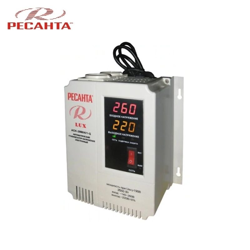 цена на Single phase voltage stabilizer RESANTA ASN-2000N/1-C LUX Relay type Voltage regulator Monophase Mains stabilizer Surge protect