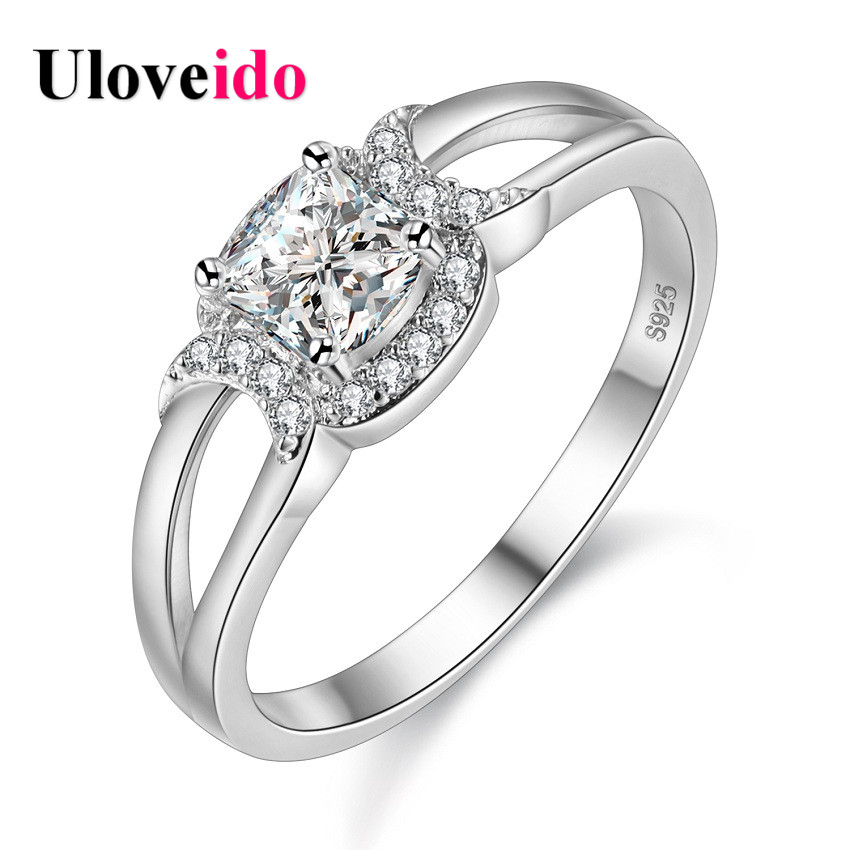 Aliexpress Buy Uloveido Women Engagement Ring Vintage Female Wedding Ri