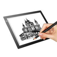 M Way 35x23x0 52cm Ultra Thin Pencil Drawing Table Graphics Tablet A4 LED Copy Adjustable Brightness