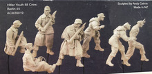 1/35 Resin Figure Model Kit  WWII 88 mm Artillery 7 people(NO The cannon NO platform)  Unassambled  Unpainted