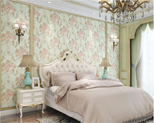 beibehang Bedroom fine pressure wall paper pastoral thick imported 3D living room nonwoven papel de parede 3d wallpaper tapety  beibehang korean nonwoven warm pastoral bedroom pink living room background wall paper wedding room papel de parede 3d wallpaper