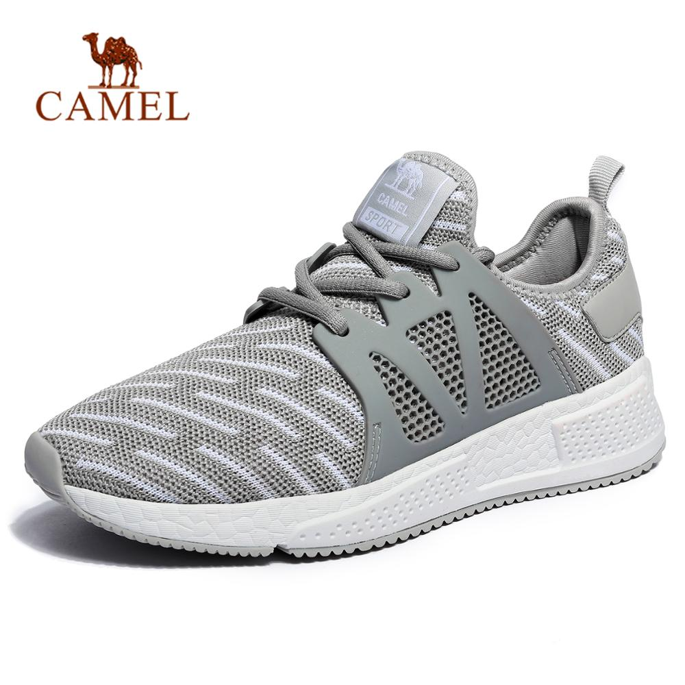 CAMEL Men Women Running Shoes Lightweight Breathable Mesh Athletic Outdoor Sports Walking Jogging Training Sneakers