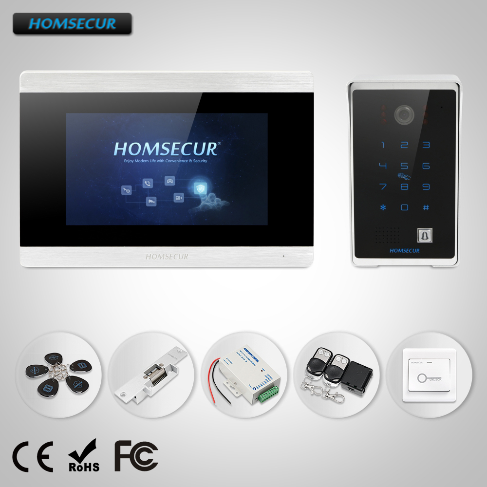 HOMSECUR 7 Wired Hands-free Video Door Entry Phone Call System Intercom+Password Access босоножки marie collet marie collet ma144awewas3