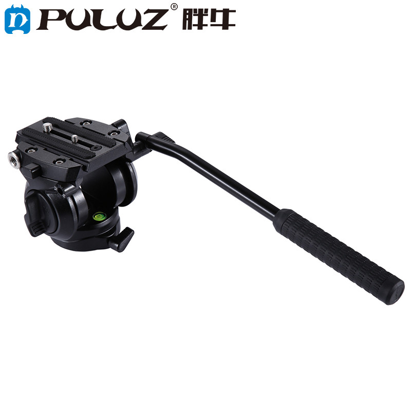 PULUZ PU3504B High Quality Heavy Duty Video Camera Tripod Action Fluid Drag Head Metal Material with Sliding Plate puluz heavy duty video camera tripod action fluid drag head with sliding plate for dslr