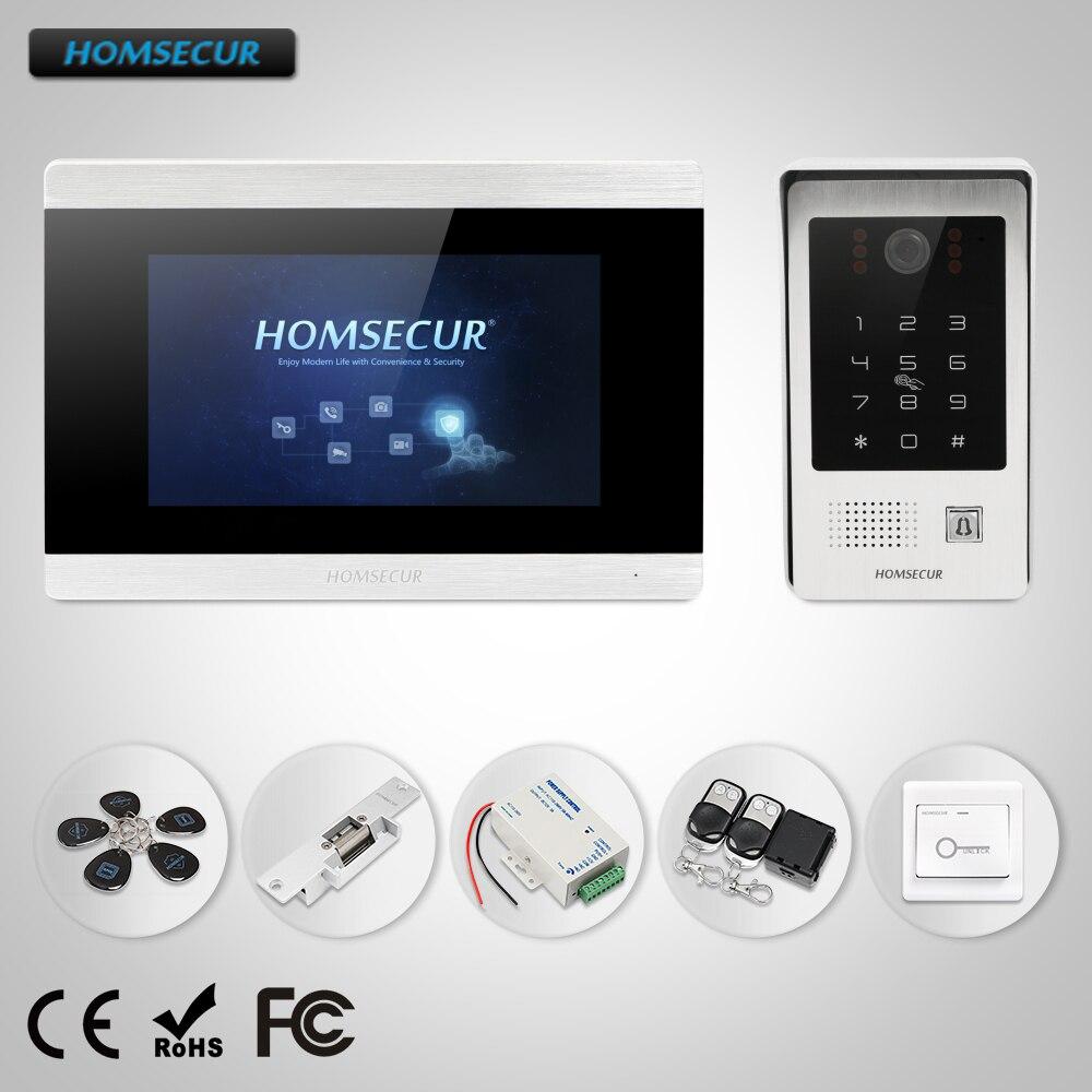 HOMSECUR 7 Filaire Vidéo & Audio Intelligent interphone sonnette avec Mot De Passe D'accès pour Maison/Plat BC091 + BM715-S