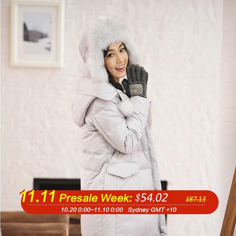 INMAN Femmes de nouveau à capuche et épaissir femme long down veste pour garder au chaud manteau d'hiver, manteaux de plumes