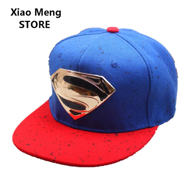 2017 Superman Baseball Cap Superman LOGO Hats Adult And Child Snapback Hat  For Boy Snapback Caps Bones Hip Hop Hats Unisex M67 5b8bb99b78b