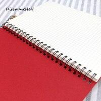 Coreano Caderno Espiral A4 Kraft notebook bloco de notas com Tampa De Papel Ofício Dot Grade Em Branco Linha de Enchimento De Papel Suprimentos de Escritório Da Escola