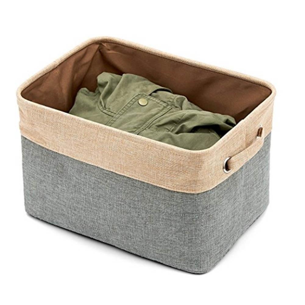 2017 Cube Storage Bins Foldable Canvas Fabric Tweed