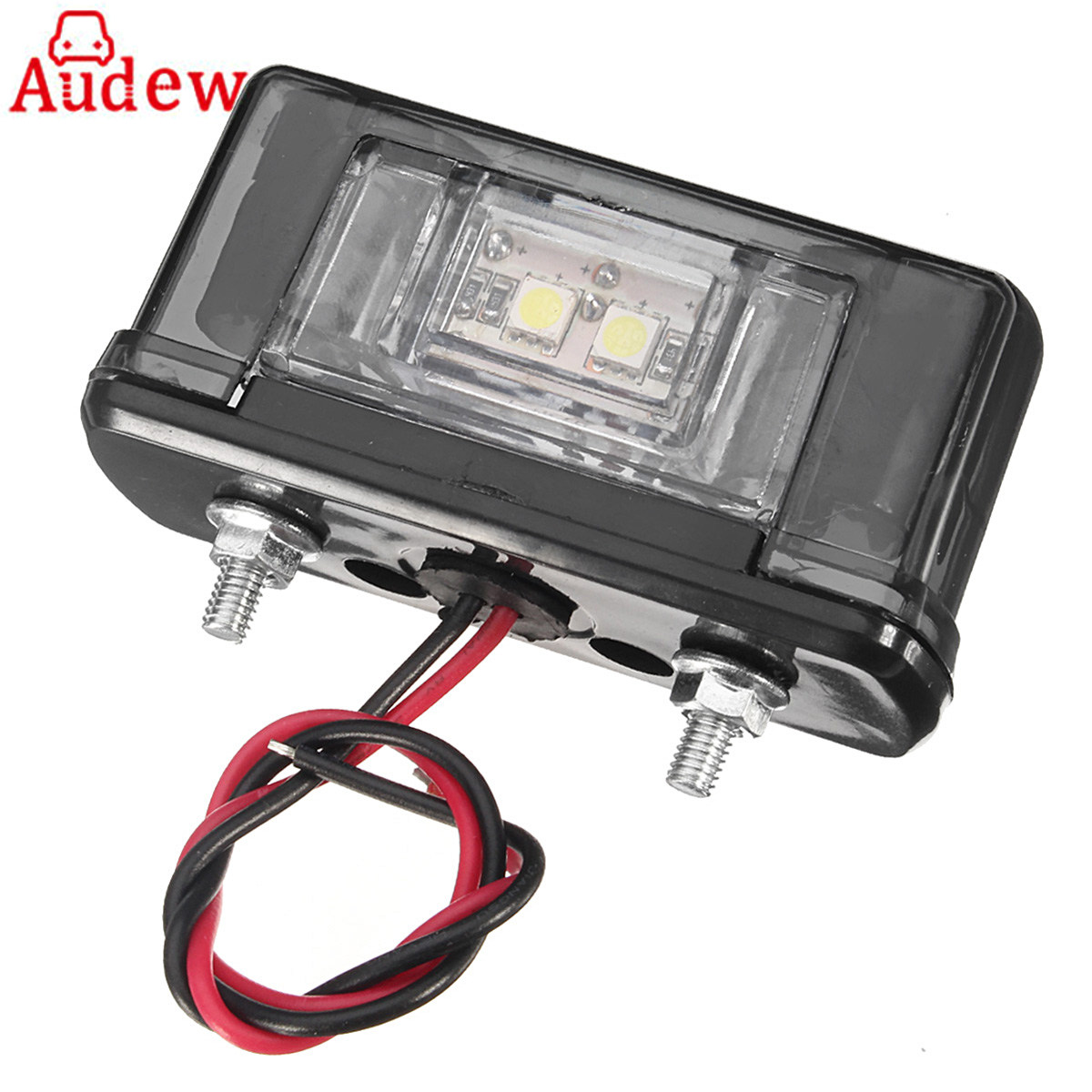 1Pcs 12V/24V Truck License Plate Light White&Red Number Plate Light for Automotive Trailer RV Truck Motorcycle Boats Aircraft 2x 12v bright 3leds license plate light lamp bulbs number plate light for motorcycle boats aircraft automotive trailer rv truck