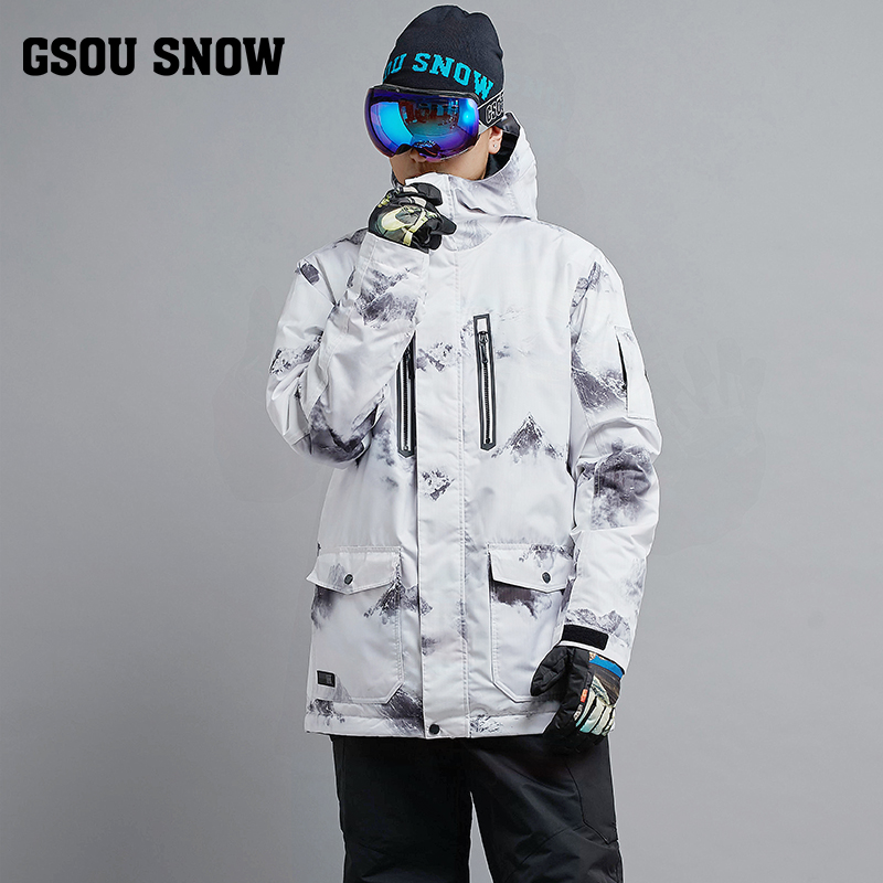 2018 Gsou Snow Men Ski Jacket Snowboard Clothing Windproof Waterproof Thermal Breathable Male Clothing Outdoor Sport Wear Winter 2018 gsou snow men ski jacket snowboard clothing windproof waterproof thermal breathable male clothing outdoor sport wear winter