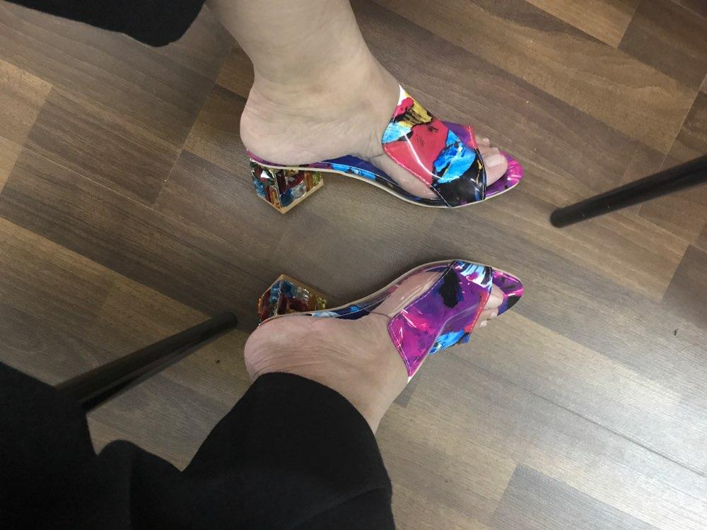f9f1273e9 13 reviews for KarinLuna 2018 brand large sizes 34-41 Colorful Rhinestone  crystals Heels peep Toe Summer women̵