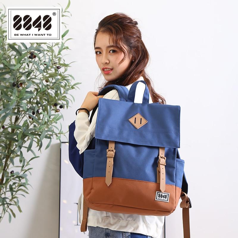 Image 5 - 8848 Casual Women's Backpack School Bag Female Backpack 15.6 Inch Laptop 14.2 L Waterproof Oxford Backpack Mochila 173 002 008-in Backpacks from Luggage & Bags