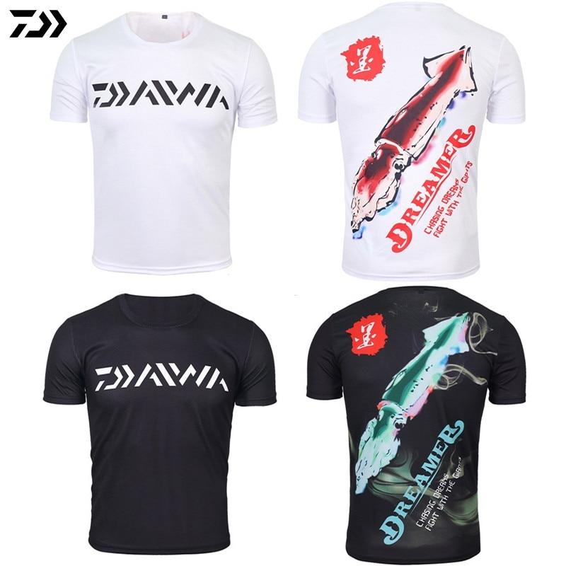 DAWA 2019 Fishing Clothing Summer  Anti UV Ultrathin Fishing Shirt Short Sleeve Deep Sea Sunscreen Breathable Clothes Fishing Clothings     - title=