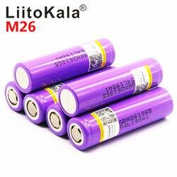 100% оригинал лиитокала для M26 18650 2600 мА/ч, 10A 2500 литий-ионная аккумуляторная батарея питания безопасный аккумулятор для электронных сигарет/ск...