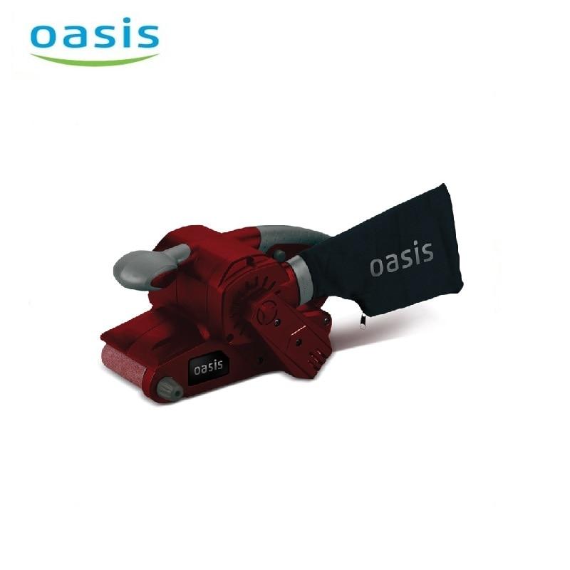 Belt sander Oasis GL-80 Table sanding belt Metal polishing device Woodworking tools Dry grinding Grinder for wood, metal black elastic metal leather belt