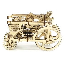 Wooden Mechanical Transmission Model DIY Tractor Assembled Toys For Ugears Gift – Tractors