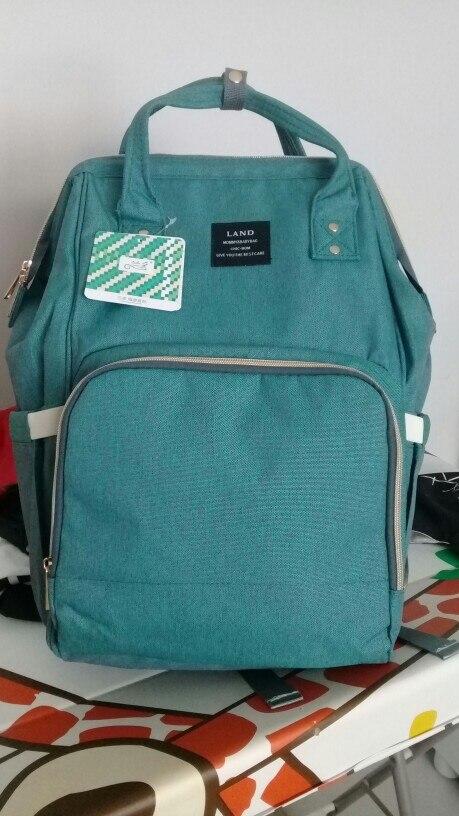 LAND New Baby Diaper Bag Fashion Mummy Maternity Nappy Bag Large Capacity Baby Bag Travel Backpack Designer Nursing Bag