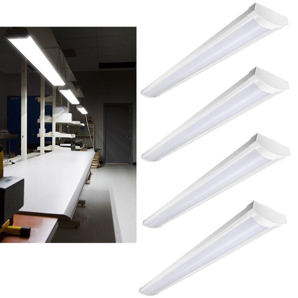 5 Pack Of 45W Vaporproof Flush Mount 4ft LED Shop Light