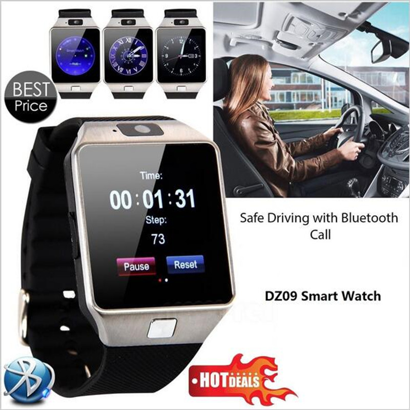 696 New Smart Watch dz09 With Camera Bluetooth WristWatch SIM Card Smartwatch For Ios Android Phones Support Multi languages