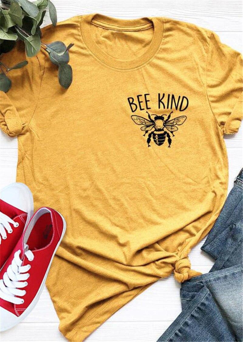 2019 sommer Tops T Für Frauen Neue Casual T-shirt Stilvolle Bee Art Gedruckt Oansatz T-Shirt Tees Weiblich camisetas verano mujer