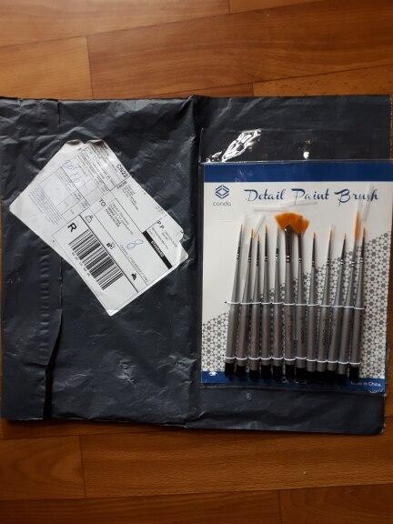 CONDA Fine Detail Paint Brush Set-12 Miniature Brushes for Detailing/&Artist