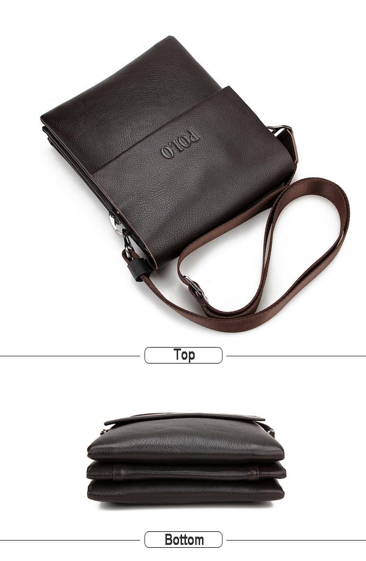 Genuine Leather Men's Fashion Shoulder Messenger Bag
