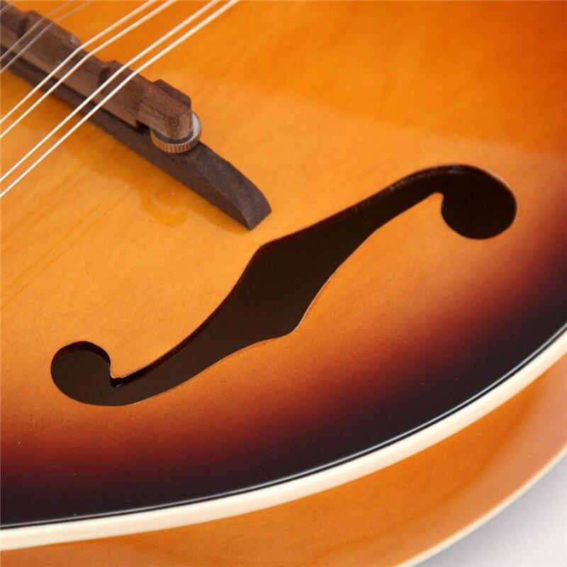 Zèbre coucher de soleil couleur palissandre 8 cordes F trou guitare basse électrique 20 Fret ukulélé pour Instruments à cordes musicaux cadeau amoureux - 3
