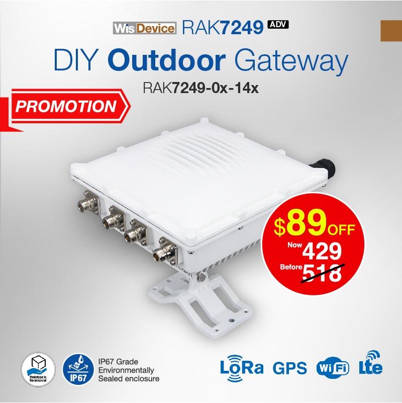 DIY Outdoor Gateway Built in OpenWRT OS 16 channel LoRa 4G WIFI GPS backup battery