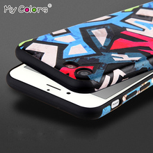 My Colors 3D Relief Painting Magician series For coque iphone 7 Case silicone Protective Cover Plus Mobile Phone Cases