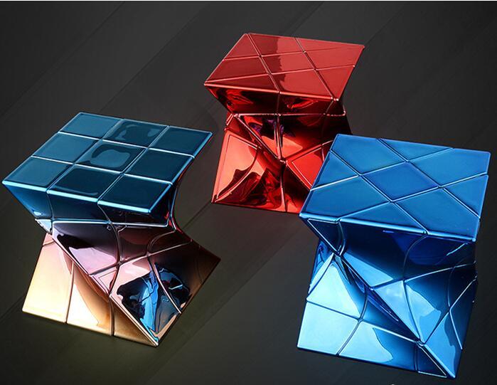 Mofangjiaoshi DNA Cube Metalized Twisty Windmill Fisher //3x3 Fanxin 3x3 Twisty Cube Cubo Magico Educational Toy  Drop Shipping