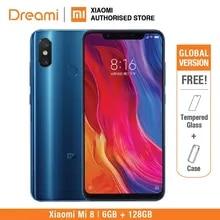 Küresel Sürüm Xiao mi mi 8 128 GB Rom 6 GB Rom ÇIFT Kamera Snapdragon 845 [resmi Rom) mi 8 128