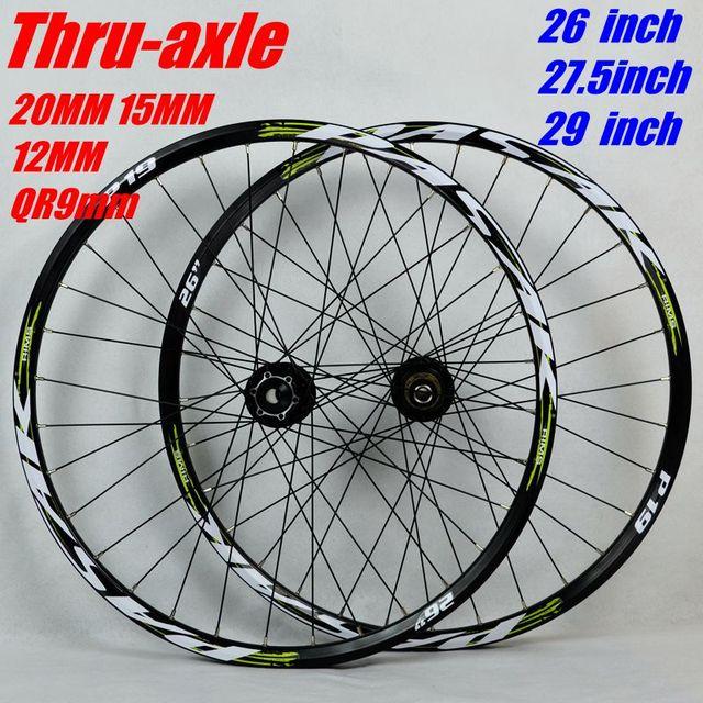 MTB จักรยานเสือภูเขาล้อ 26 27.5 29 นิ้วจักรยานล้อใหญ่ hub 6 กรงเล็บ DH ล้อ 15 มิลลิเมตร 20 มิลลิเมตร 12 มิลลิเมตร 9 มิลลิเมตร Thru   axle ล้อขอบ