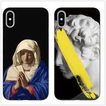Retro Art David Blessed Virgin Mary Statue Soft Silicone Phone cover Case For iPhone 7 7Plus 5 11 11PRO MAX SE 6s 7PLUS MAXCases