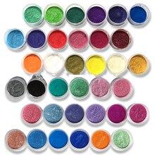 10ML Cosmetici Mica Pigmento Polveri Sicuro da usare per il Rossetto, Trucco, Ombretto, sapone 54 Colori Polvere di Perla Pigmenti per Unghie Artistiche