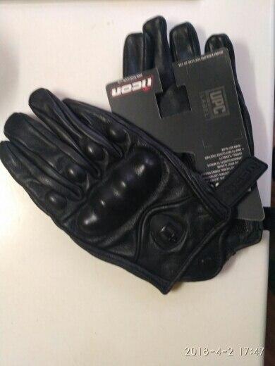 Топ Guantes модные перчатки из натуральной кожи полный палец черный мото мужчины перчатки мотоцикла Защитный Gears Мотокросс перчатки