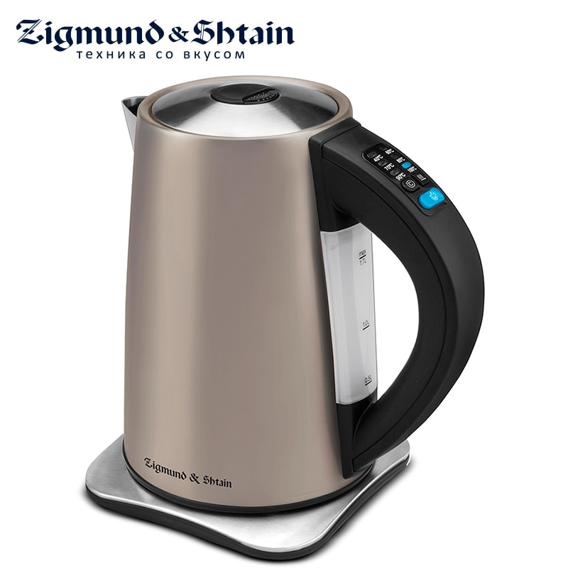 Zigmund & Shtain KE-81 SD Electric Kettle 2200W 1.7L Water level scale Auto shut-off when boiling Cover opening button 3l instant heating electric hot water dispenser boiler electric kettle desktop coffee tea maker boiling kettle home 2200w
