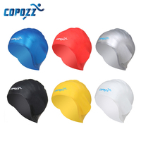 2017 New Arrival Silicone 3D Swimming Cap Diving Waterproof Swim Pool Hat Ear Care Protector For Men Women