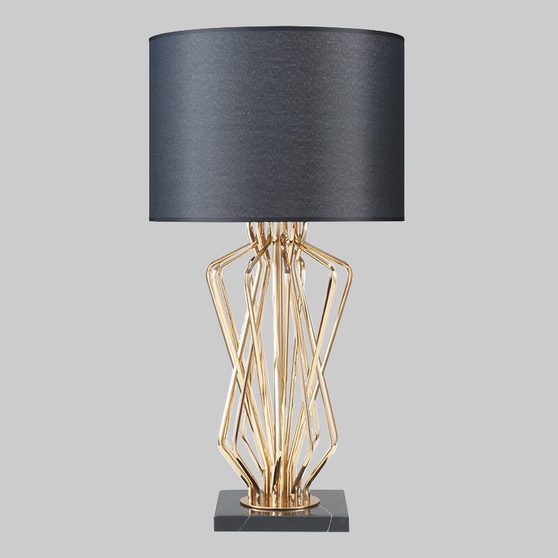 US $161.99 19% OFF|Modern Table Lamp for Living Room Bedroom Contemporary  Desk Lamp Bedside Lamp Metal Plating Table Lamp Design Home Decoration-in  ...
